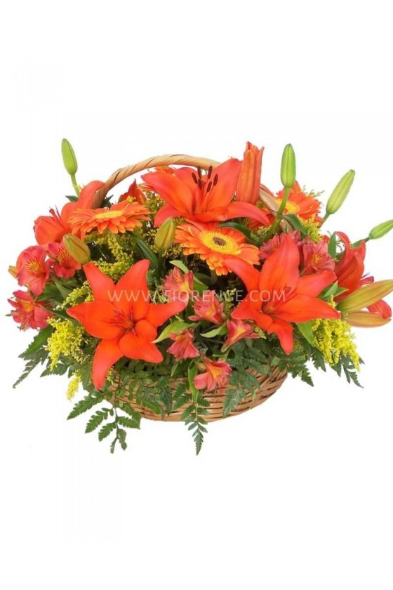 Flowers Sunset Basket