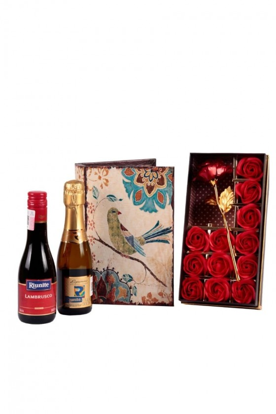 Jewelry Box with Wine and...