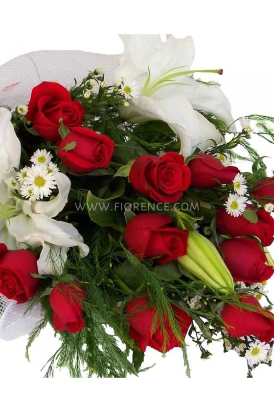 Roses  Bouquet with Casablanca